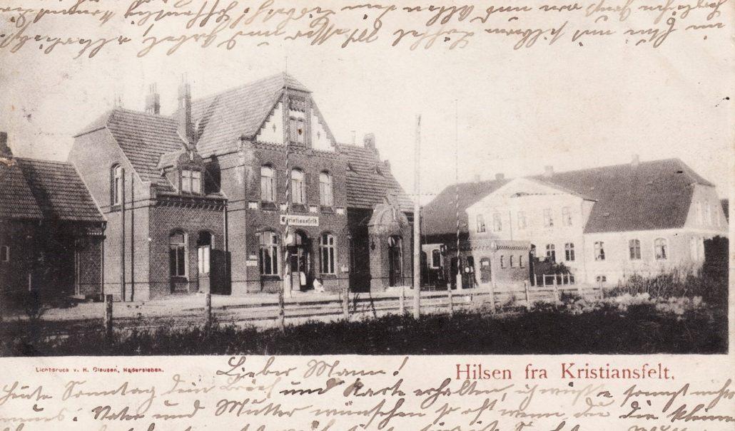 Banegården - 1900 - 1920, Fotograf, Jens Peter Lund Hansen Postkort Samlinge - Foto - Christiansfeld Lokalhistorisk Arkiv og Forening
