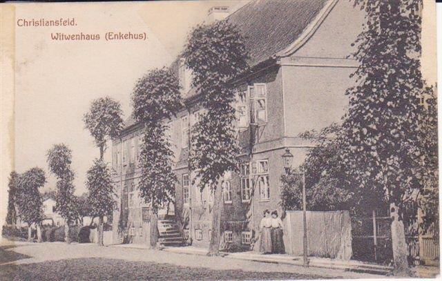 Enkehuset ca. år 1900.