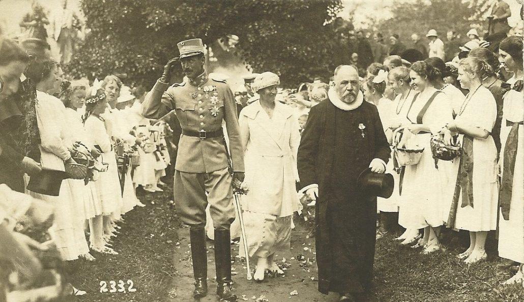 Tyrstrup Kirke - 1920 - Foto, Hans Gorrsen Postkort Samling